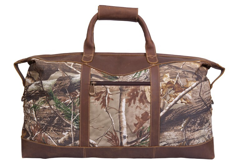 Realtree® Camo Leather Duffel, 22""