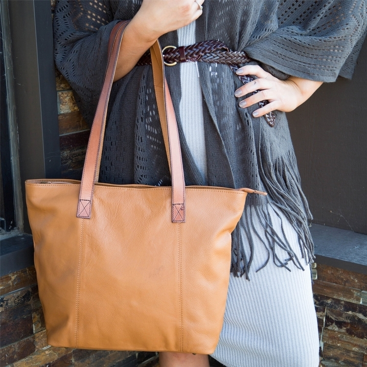 Harper Canyon Leather Tote