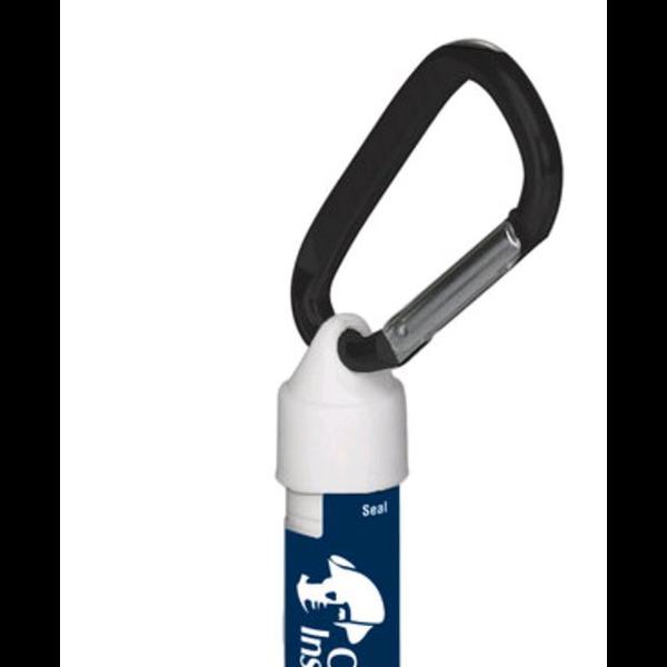 Fabulous Flavors Lip Balm in White Tube w/ Hook Cap & Carabiner, SPF-15