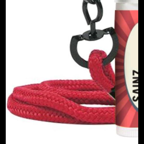 Fabulous Flavors Lip Balm in White Tube w/ Hook Cap & Lanyard, SPF-15