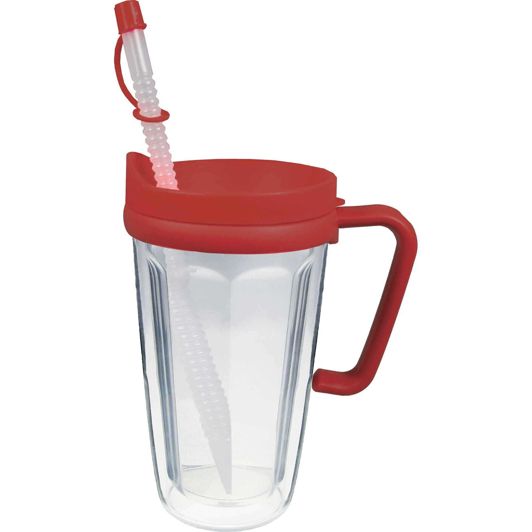 Thermal Travel Mug with Handle, 16oz. w/ Full Color Imprint