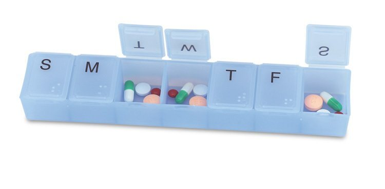 Jumbo Weekly Strip Pillbox, 8""