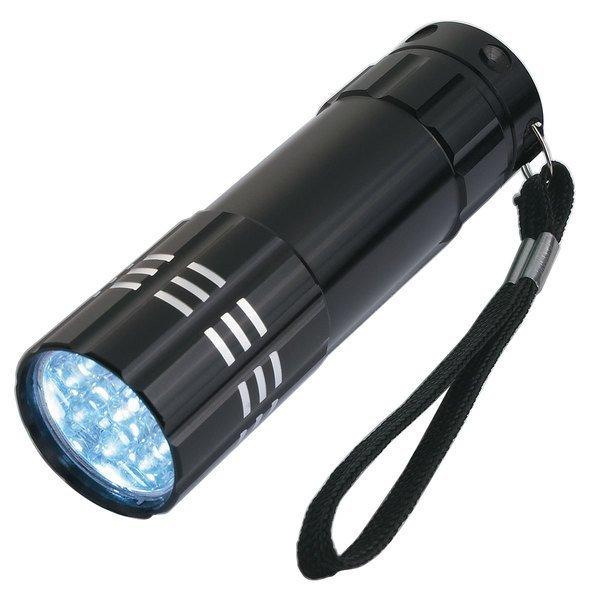 Aluminum 9 LED Flashlight with Strap