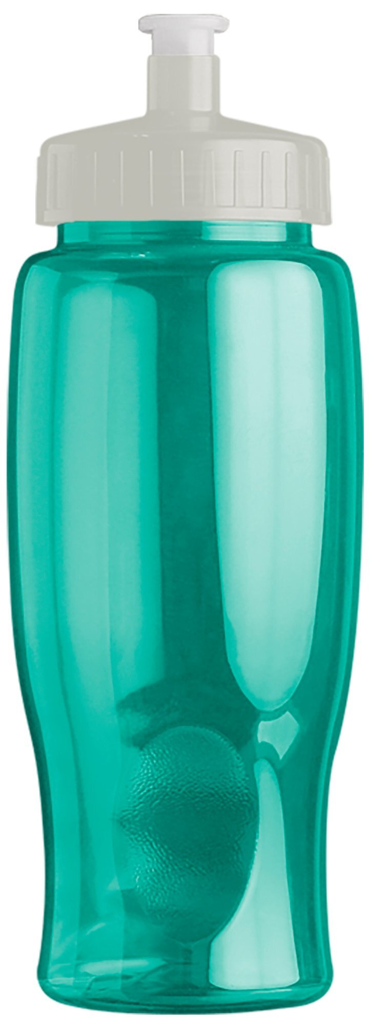 Transparent Grip Poly-Pure Sport Bottle, 27oz. - Push Pull Lid