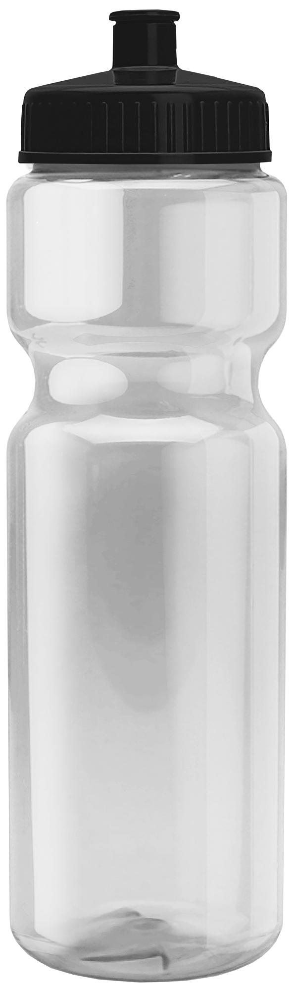 Transparent Sports Bottle, 28oz. - Push/Pull Lid