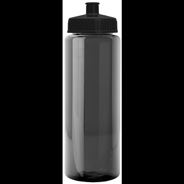 Guzzler Transparent Sport Bottle, 32oz. - Push/Pull Lid