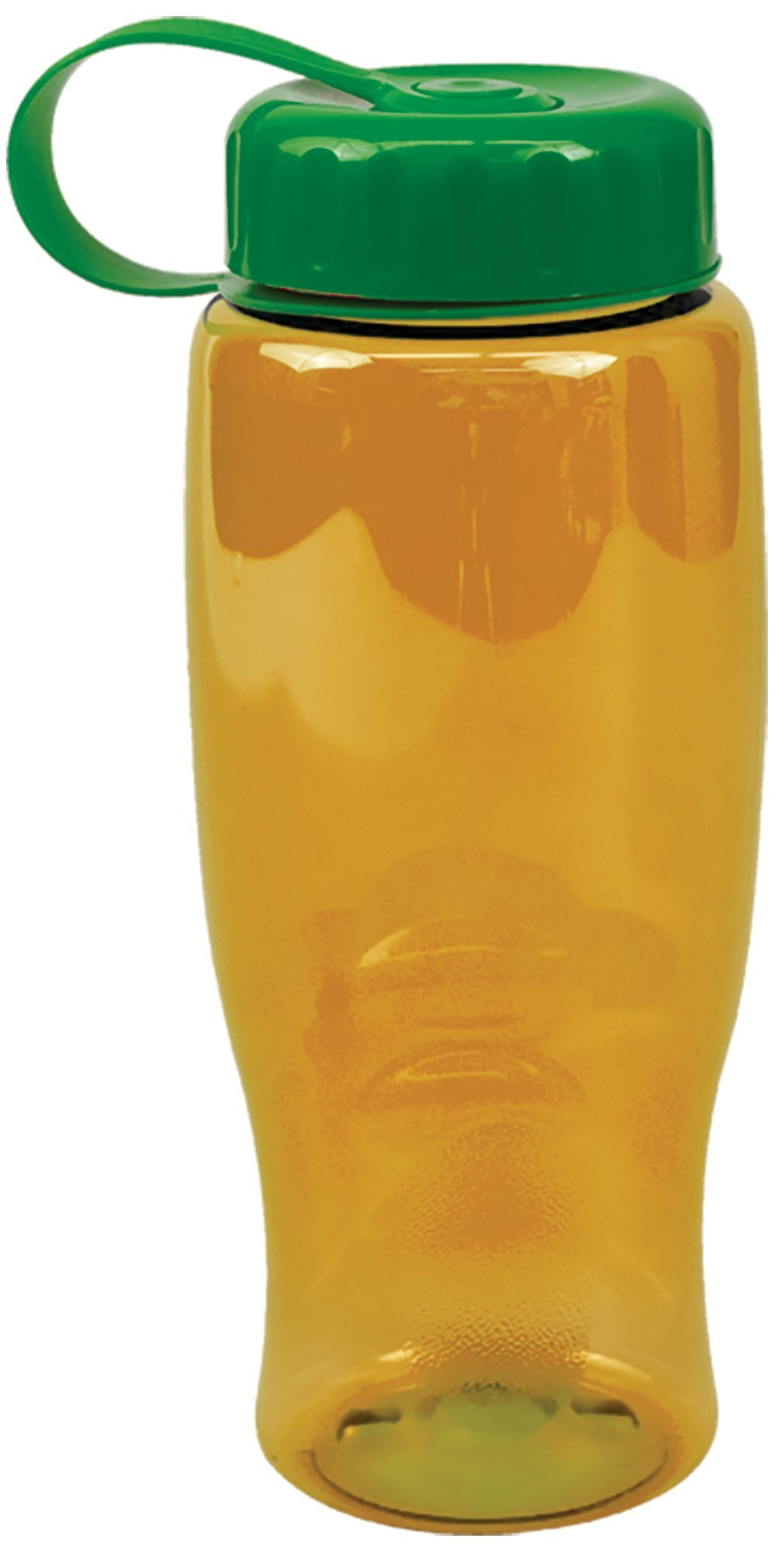 Transparent Grip Poly-Pure Sport Bottle, 27oz. - Tethered Lid
