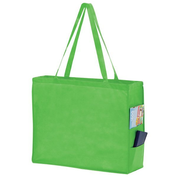 Carry All  Large Non-Woven Tote with Side Pockets