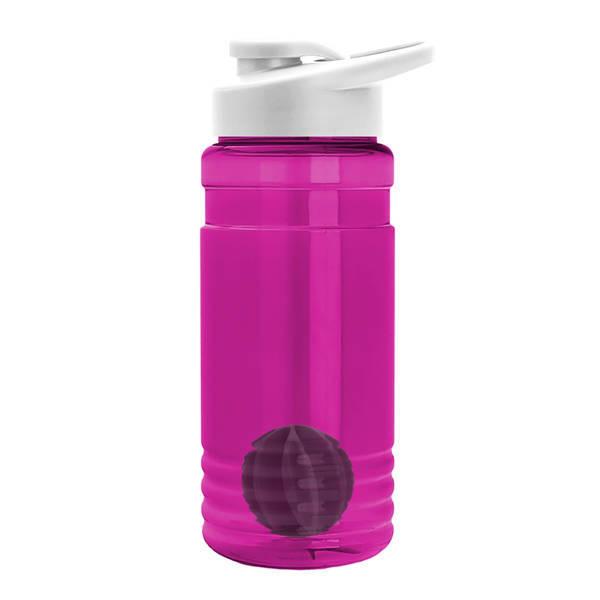 Groove Shaker Tritan™ Transparent Bottle, 20oz. - Drink Thru Lid