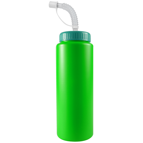 Squeeze Bottle, 32oz. - Flexible Straw Lid