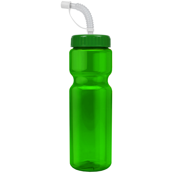 Transparent Sports Bottle, 28oz. - Straw Lid