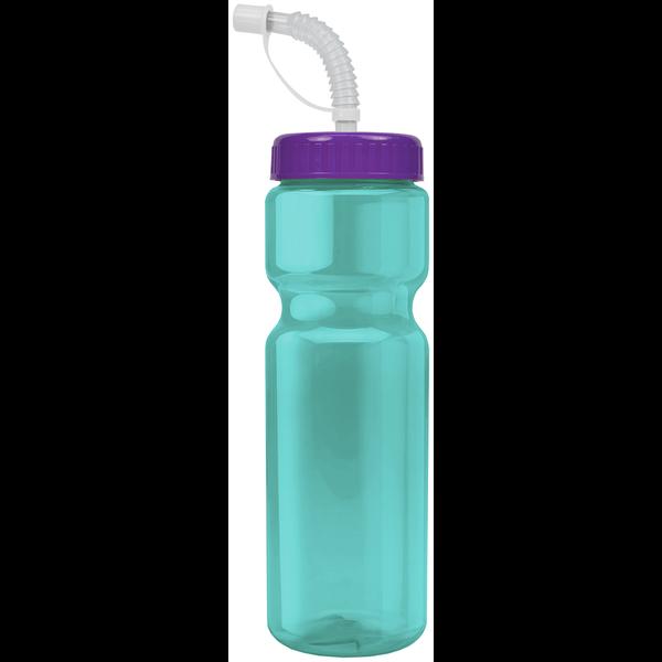 Transparent Sports Bottle, 28oz. - Straw Lid