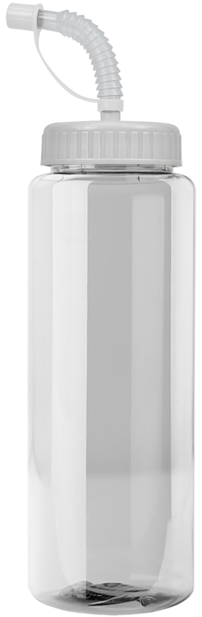 Guzzler Transparent Sport Bottle, 32oz. - Straw Lid