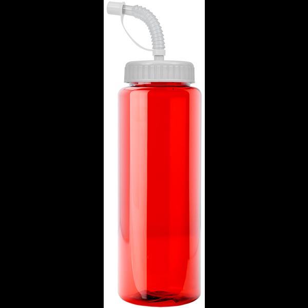 Guzzler Transparent Sport Bottle, 32oz. - Straw Lid