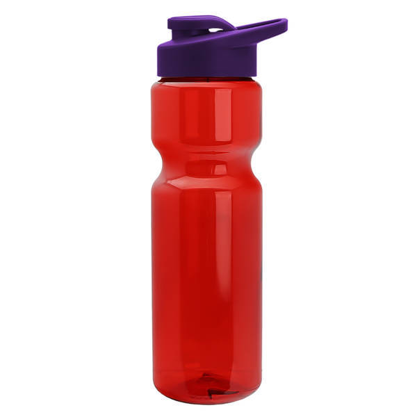 Transparent Sports Bottle, 28oz. - Drink Thru Lid