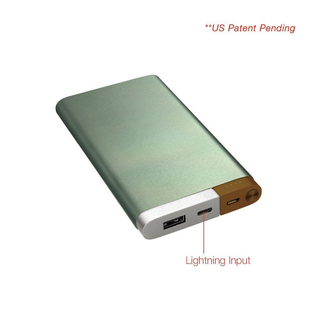 Lightning and Micro USB Dual Input Power Bank, 10,000mAh