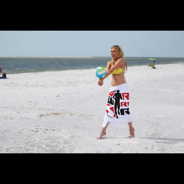 Classic White Basic Weight Beach Towel, 10.5 lbs.