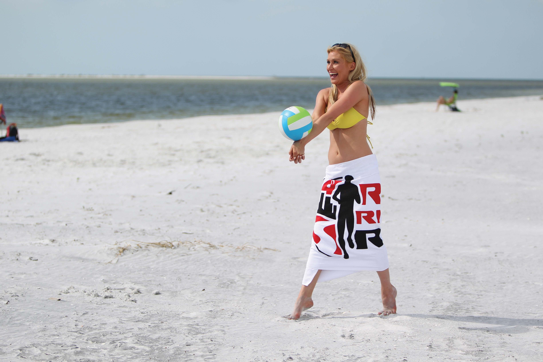 Classic White Heavy Weight Beach Towel, 20 lbs.