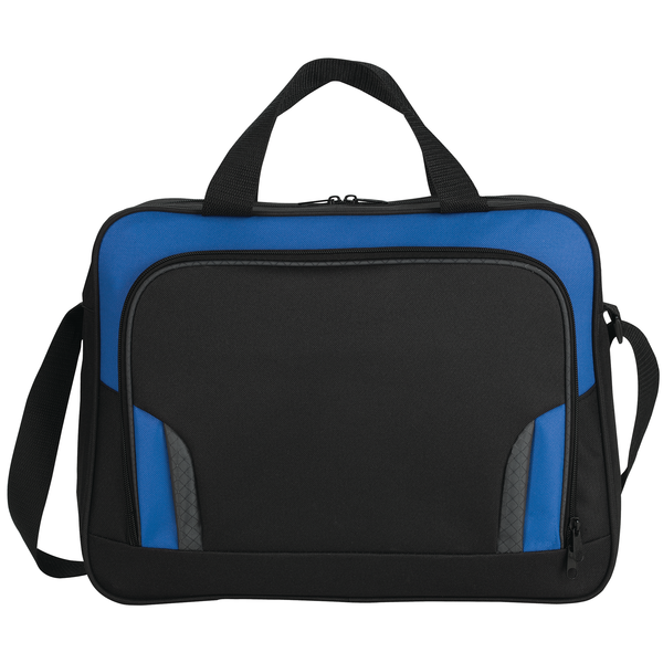 Colorblock Polyester Briefcase