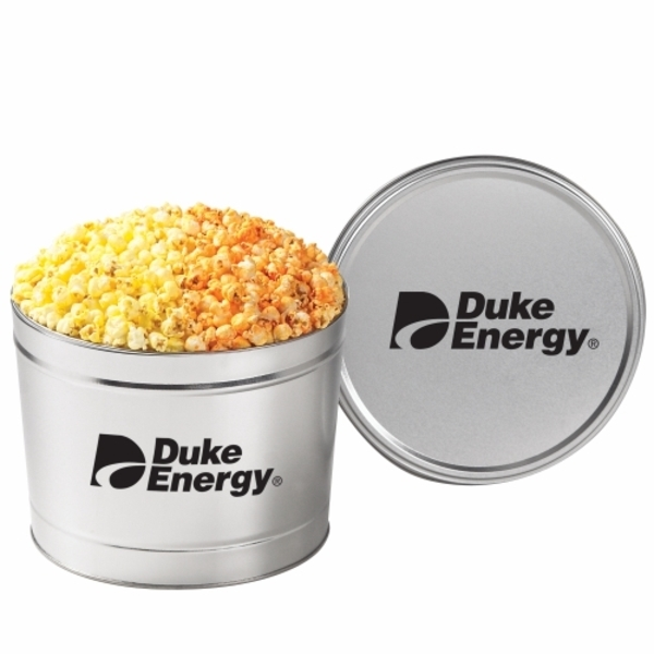 Two Way Popcorn Tin - Butter & Cheese,  1.5 Gallon