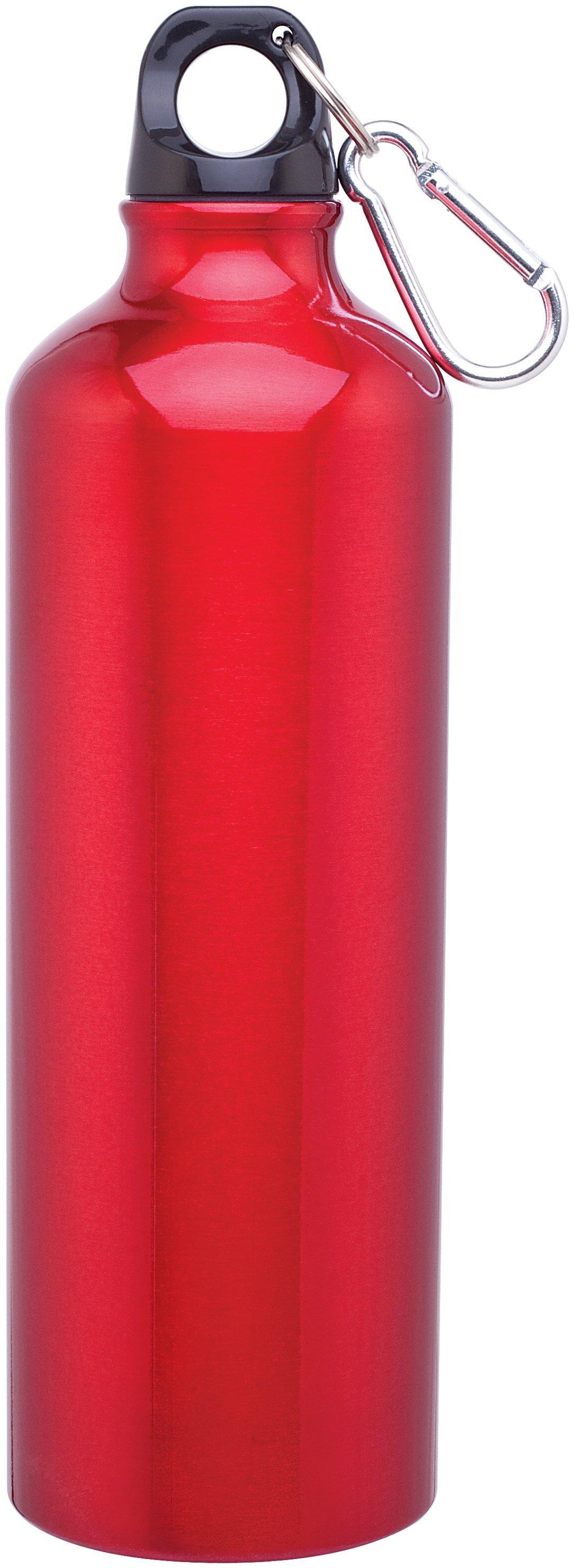 Aluminum Sport Bottle w/ Carabiner, 24oz. - Free Set Up Charges!