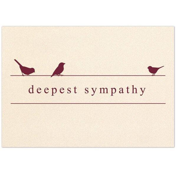 Deepest Sympathy Birds Note Card