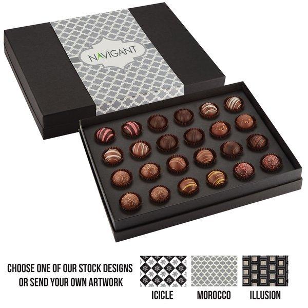 Decadent 24 Piece Truffle Box, Full Color Imprint