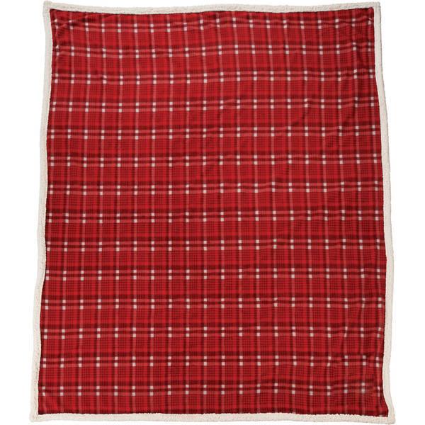 """Field & Co.® Plaid Sherpa Blanket, 60"""" x 50"""""""
