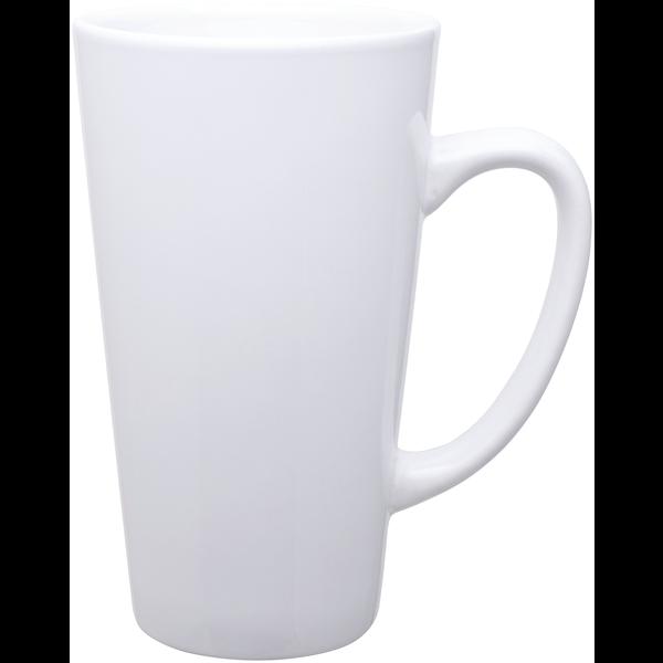 Batavia Tall Latte Mug, 16oz., White