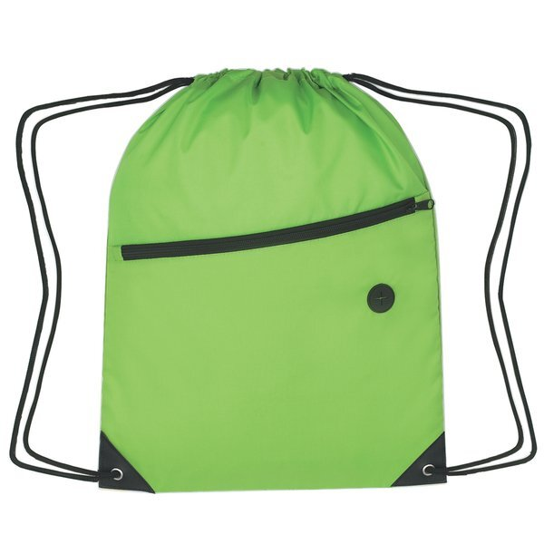 Large 210D Polyester Sports Pack w/ Front Zipper