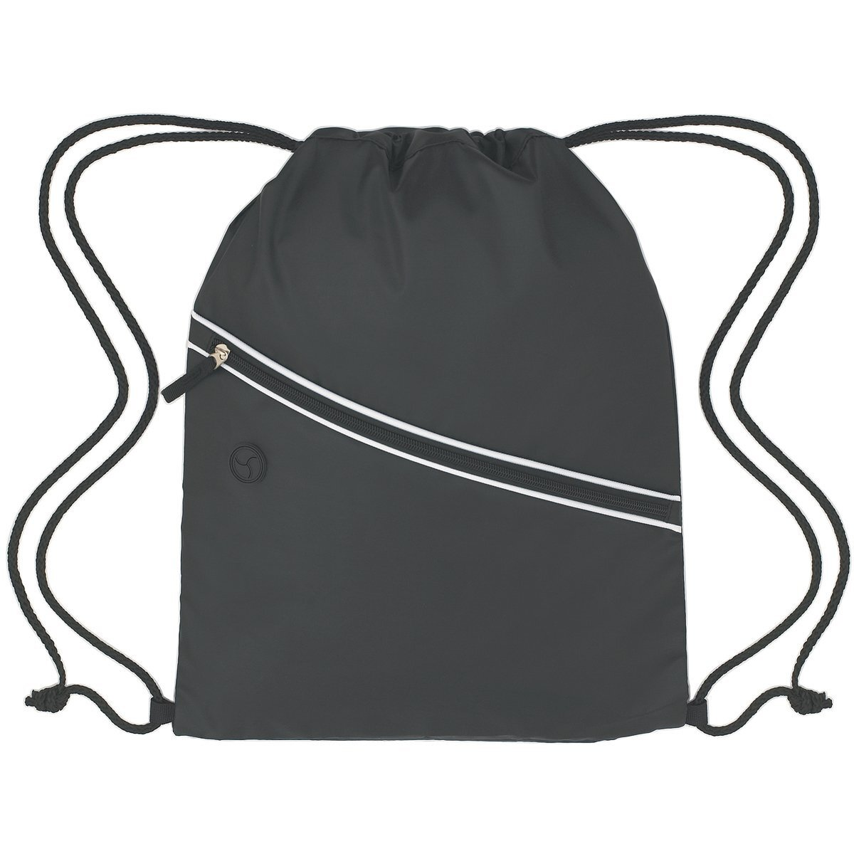 Two-Tone Diagonal Zip Nylon Sports Pack