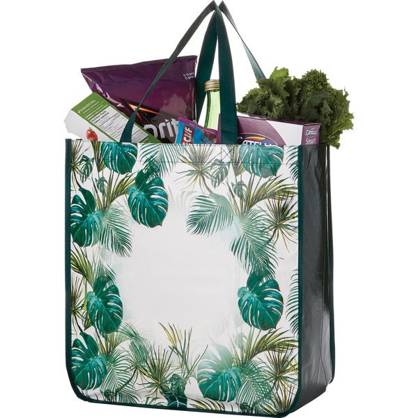 Palms Laminated Non-Woven Shopper Tote