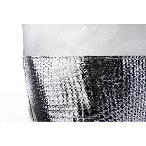 Laminated Non-Woven Mini Metallic Bottom Tote
