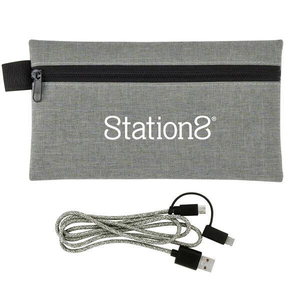 Large Ridge 3 Foot Charging Cable w/ Pouch