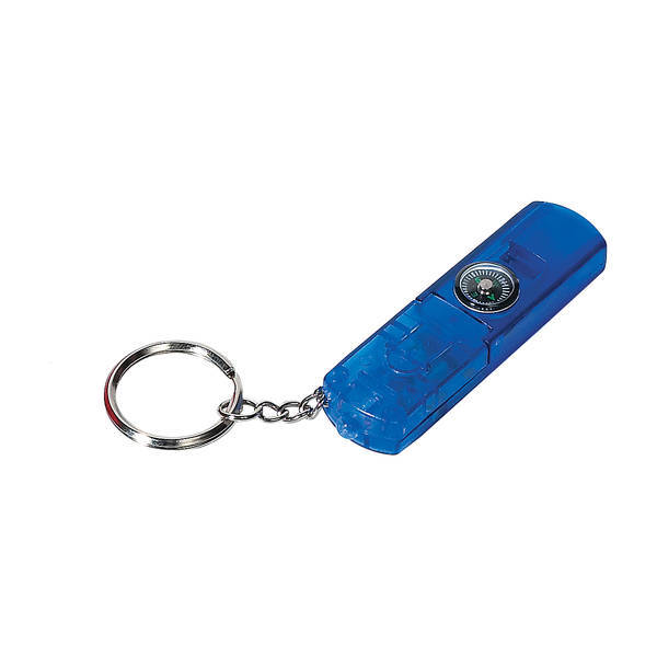 Whistle Light & Compass Key Chain