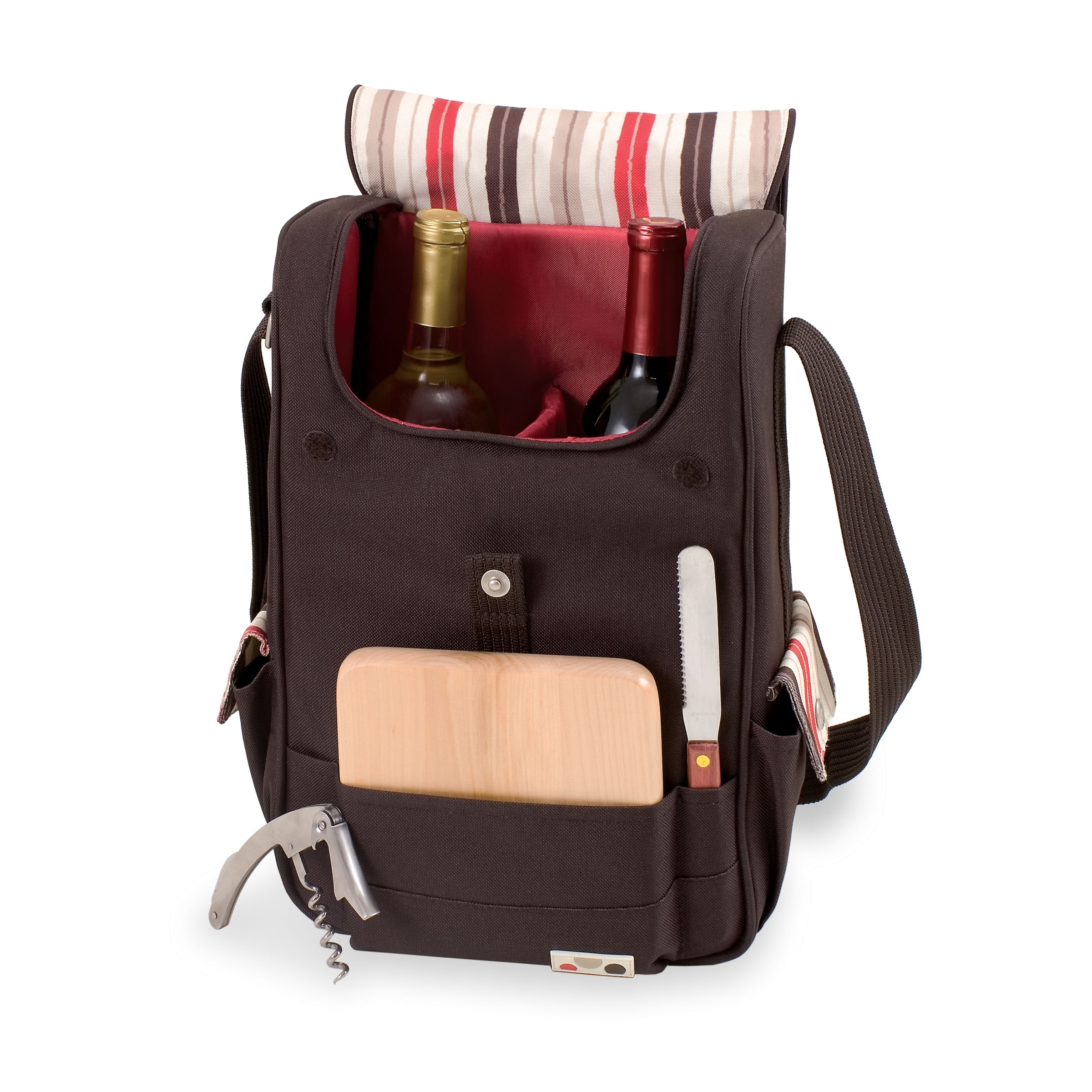 Volare Wine & Cheese Insulated Tote Set - Moka Collection