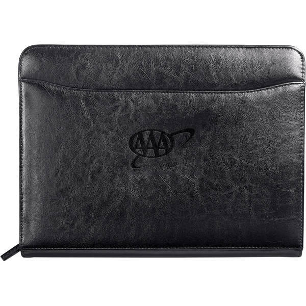 Renaissance Italian Leather Zippered Padfolio
