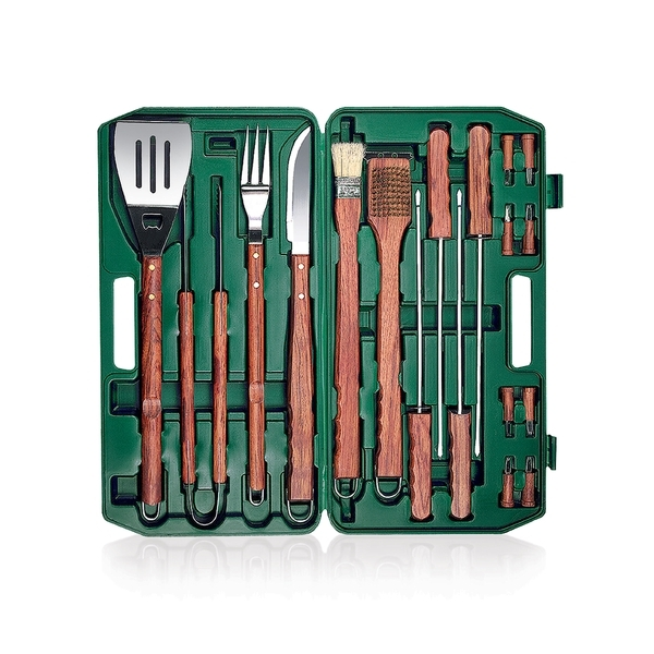 Eighteen-Piece BBQ Tool Set