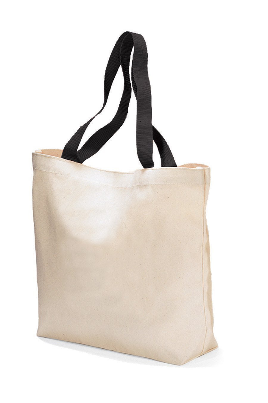 Colored Handle Cotton Canvas Tote