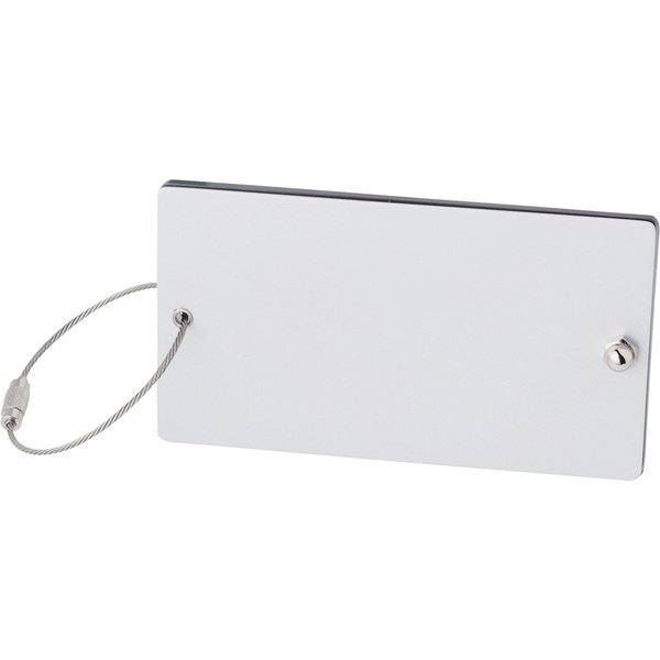 Steel Threads Aluminum and Acrylic Luggage Tag