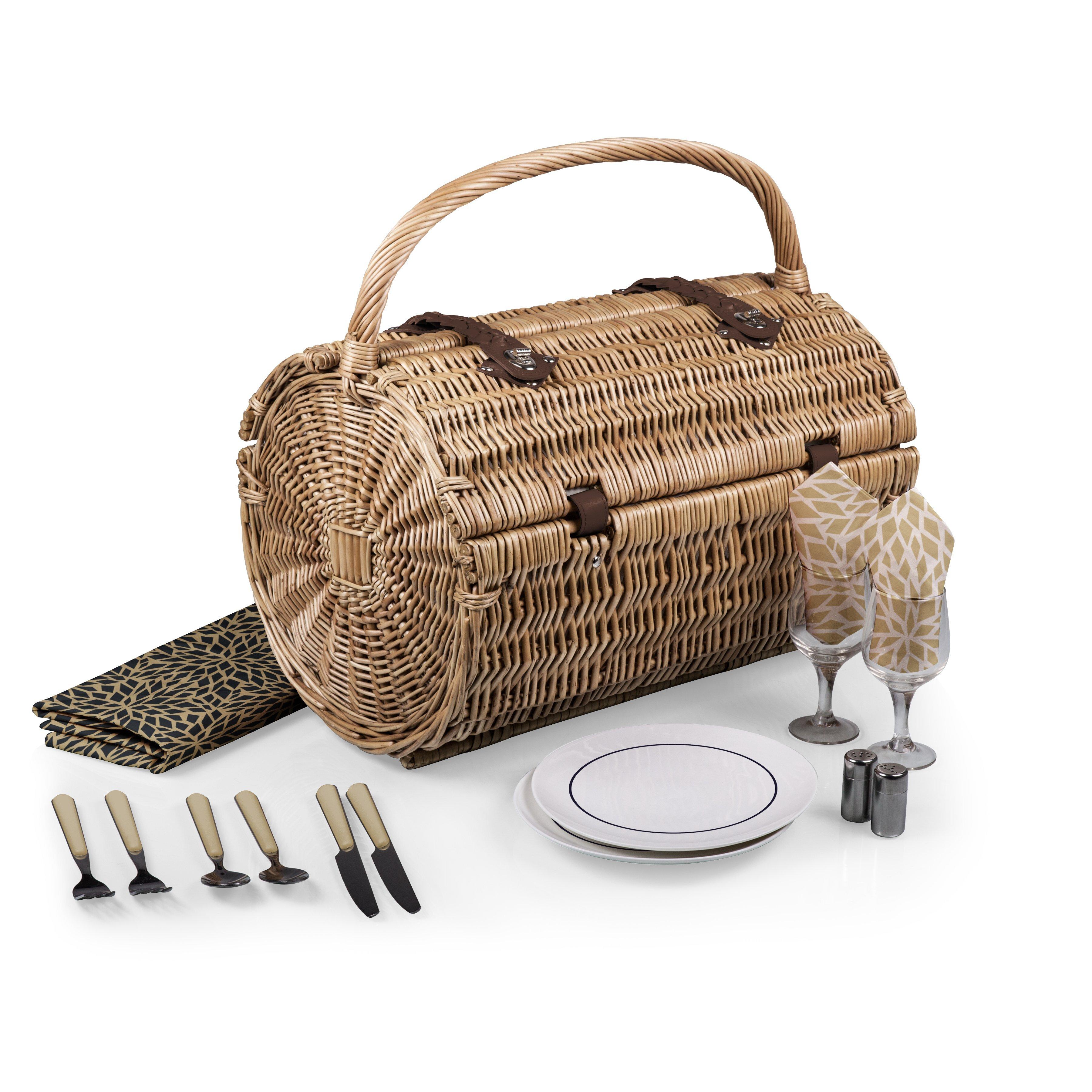 Barrel Picnic Basket Set - Dahlia