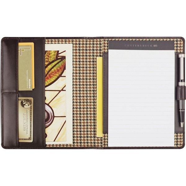 Cutter & Buck® American Classic Leather Jr. Writing Pad