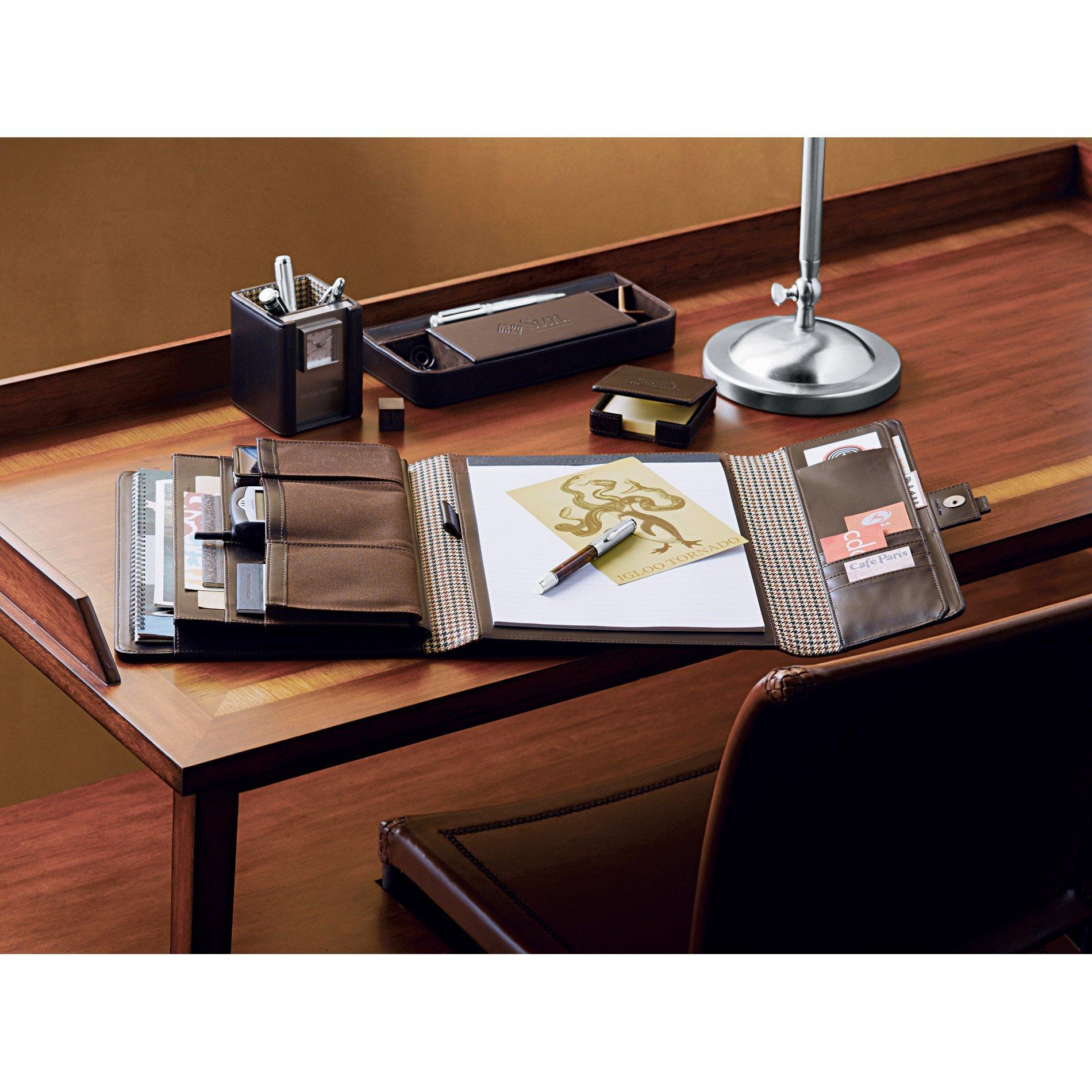 Cutter & Buck® American Classic Leather Tri-Fold Padfolio