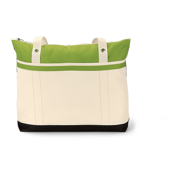 Clipper 600D Polyester Grommet Tote