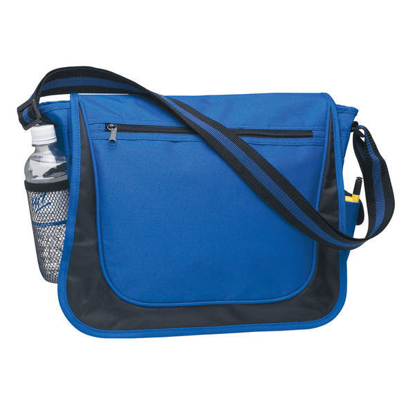 Striped Strap 600D Polyester Messenger Bag