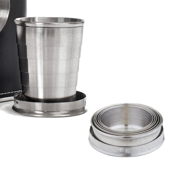 Collapsible Shot Cup Flask, 5oz.