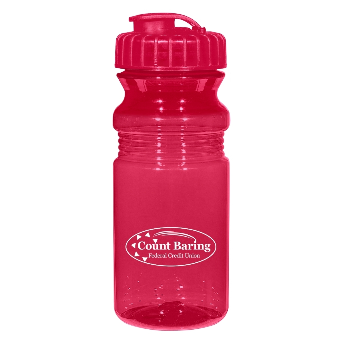 Poly-Clear™ Fitness Bottle with Super Sipper Lid, 20oz.