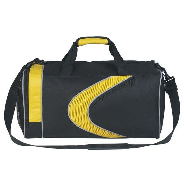 "Sporty 600D Polyester Duffel Bag, 19"""