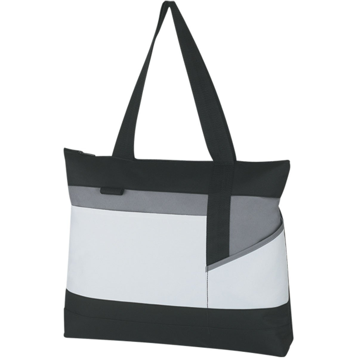 Cameron Zippered Polycanvas Tote - Free Set Up Charges!