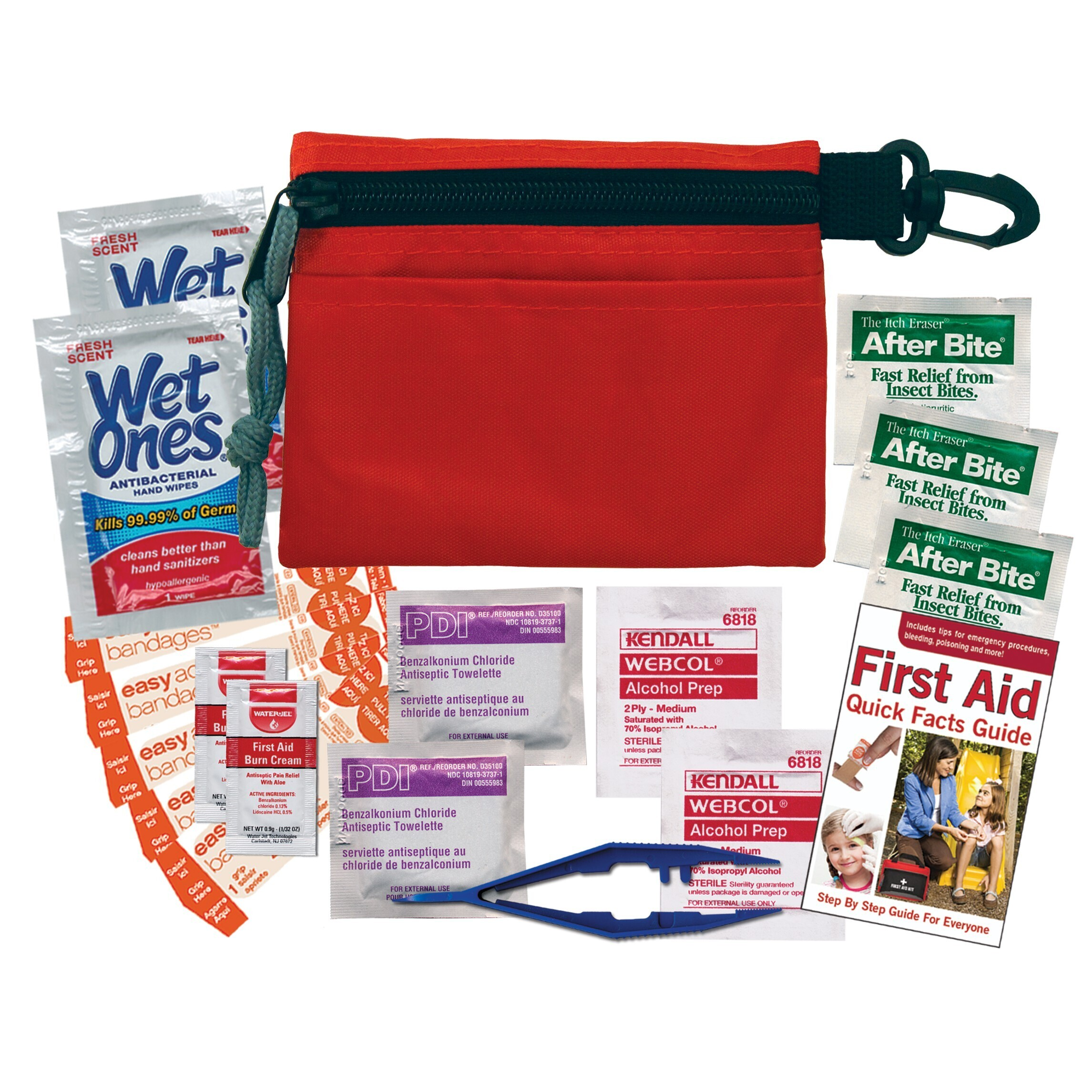 Compact First Aid Kit in Clip Pouch